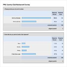 Restaurant Survey Download Pml Country Club Restaurant Survey Template For