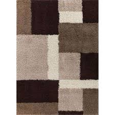 madison cubes beige brown 5 ft x 7 ft contemporary geometric area