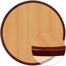30 round 2 tone high gloss cherry mahogany resin table top