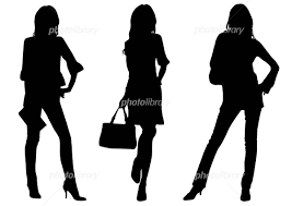 3人の女のシルエット イラスト素材 1570457 フォトライブラリー