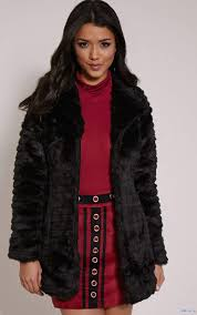 black beige coats jackets shila faux fur stripe coat magenta