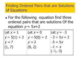 solutions of linear equations calculator ordered pair equation jennarocca ordered pairs equations jennarocca