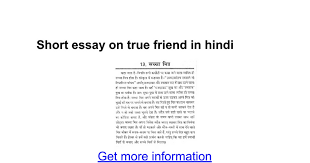 short essay on true friend in hindi google docs