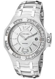 click image above to purchase concord 0311706 men s saratoga click image above to purchase concord 0311706 men s saratoga silver dial white diamond stainless steel