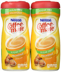 coffeemate sugar free hazelnut 10 2 oz pack of 2 amazon grocery gourmet food