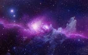 Wallpaper purple and gray nebula ...