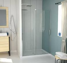 shower door and 60 inch halo clear glass chrome by maax