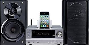 sharp stereo. sharp xl-hf401ph hifi component stereo system with excellent sound 100w rms iphone ipod and sharp