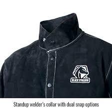 color block leather welding jacket