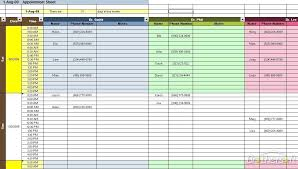 Weekly Appointment Calendar Excel Excel Weekly Appointment Calendar Template Appointment Templates