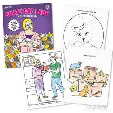 crazy cat lady coloring pages