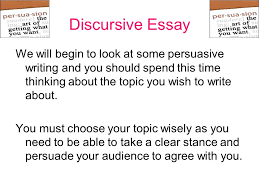 higher writing folio discursive writing learning intentions discursive essay we will begin to look at some persuasive writing and you should spend this