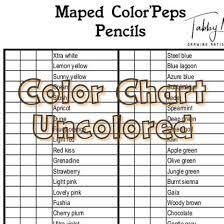 Maped Colorpeps Color Chart 48 Colors