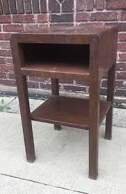 vintage industrial simmons metal side table. Mid Century Modern Art Deco Metal Simmons Norman Bel Geddes Nightstand End Table Vintage Industrial Side E