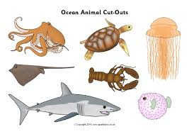 Small Picture Ocean Animal Cutouts Coloring Pages Free blueoceanreefcom