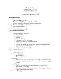 Professional Server Resume Cool Sql Server Dba Resume Sample Server Resume For 48 Year Experience 48