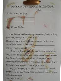 Marriage Proposal Letter Traditional Yoruba Wedding Engagement Proposal Letter Official 1