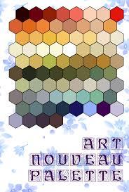 Art Nouveau Colour Palette By Dimitri Cosmos Davvvr
