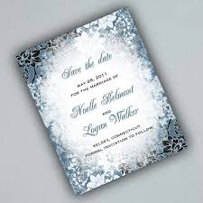 Winter Save The Date Cards With Evening Frost By Alookoflove Paper