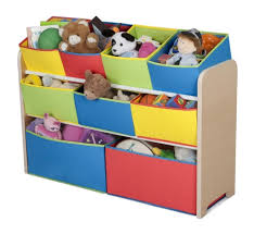 Colorful Kids Storage Bins For Toys And Dolls Including Wooden Storage  Organizer