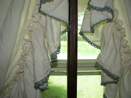 image of ruffled bedding image of country curtains