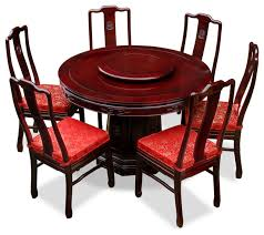 48 rosewood longevity round dining table with 6 chairs longevity design