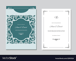 Invitation Envelope Template Wedding Invitation Card And Envelope Template With