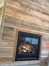 reclaimed wood fireplace surround