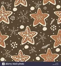 cute gingerbread background. Brilliant Cute Cute Seamless Winter Background With Gingerbread Cookies  Illustration In Gingerbread R