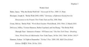 Sample Mla Reference Page Example Mla Citation Page