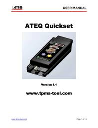 Ateq Quick Set Tpms Reset Relearn Tool