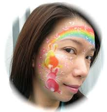 Small Picture Face Painting IDeas Easter Face and Rainbow face paint