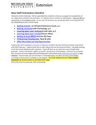 Staff Orientation Checklist New Staff Orientation Checklist