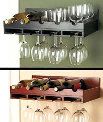 how to make a wine glass holder wall mounted stemware rack best wall wine racks images