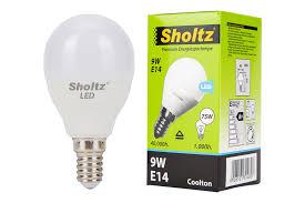 <b>Лампа светодиодная шар SHOLTZ</b> 9Вт E14 4000К 220В