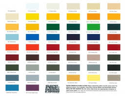Poly Fiber Color Chart 50 From Aircraft Spruce Canada