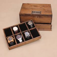 watch box for men watch box watch case men s watch box watch personalized rustic men s watch box for 8 by ourweddinginvites