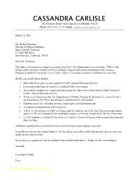 Resume Cover Letter Example Pdf Sample Letters For Samples Examples