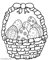 easter egg coloring. Contemporary Coloring Easter Egg Basket Coloring Pages Throughout R