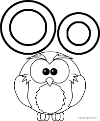 The best free, printable alphabet coloring pages! Simple Owl And Letter O Coloring Page Coloringall
