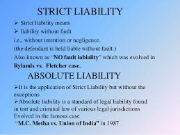 absolute liability strict liability