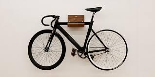 Wall Mount Bike Rack Shelf in Maple or Walnut  Selectism