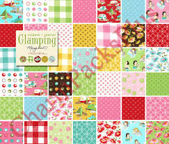 GLAMPING - Moda Fabric Charm Pack - Five Inch Quilt Squares ... & GLAMPING - Moda Fabric Charm Pack - Five Inch Quilt Squares Quilting  Material Blocks Adamdwight.com