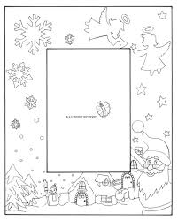 Disegni Di Natale Da Colorare Per Bambini Com Con Cornici Per Fogli