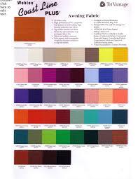 Awning Colors Fabric A E Dometic 8500 Sunsetter Sunbrella