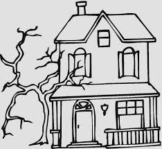 Small Picture Haunted House Coloring Pages Printables Halloween 02gif Coloring