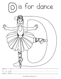 Small Picture Coloring Pages Letter D Easy To Color Page Alphabet nebulosabarcom