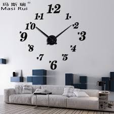 Small Picture Aliexpresscom Buy 3D big size rushed wall clock mirror sticker