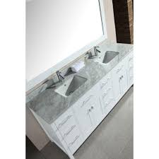 Rated 4.5 out of 5 stars. Design Element London 78 In W X 22 In D Double Vanity In White With Marble Vanity Top And Mirror In Carrara White Dec088 W The Home Depot