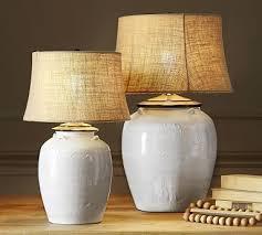 CFL Courtney Ceramic Large Table Lamp Base, Ivory